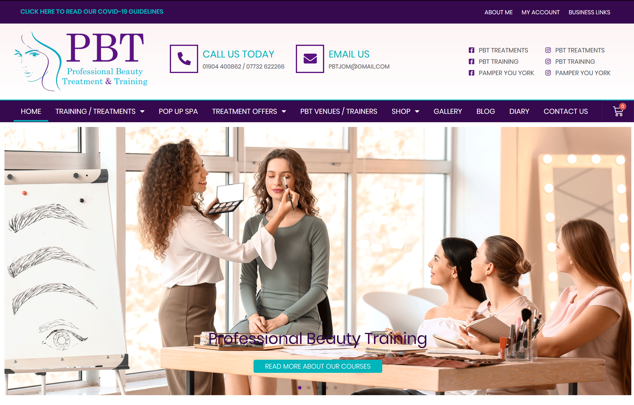 Read more about the article NEW WEBSITE LAUNCH – Professional Beauty Training