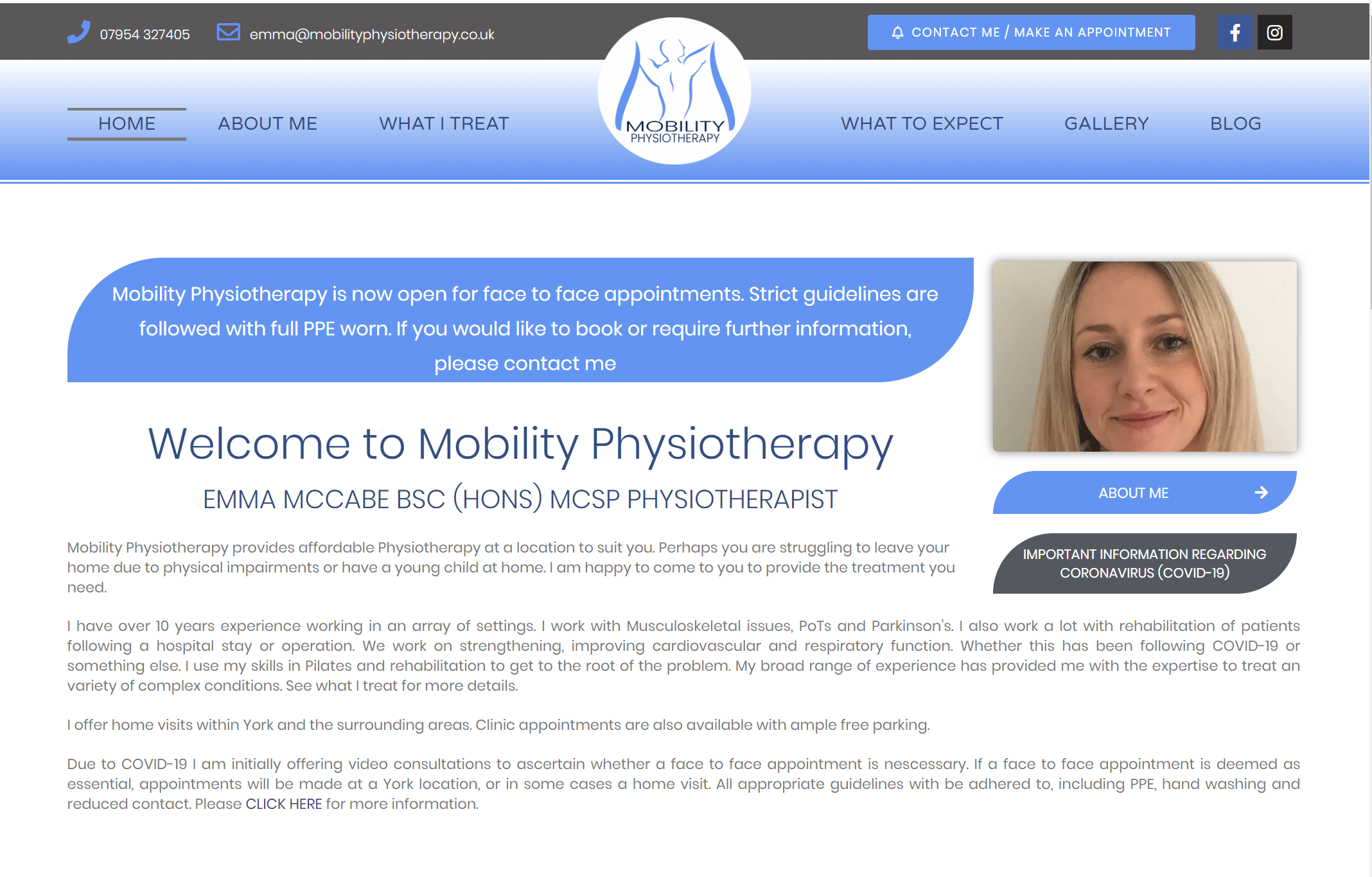 Read more about the article NEW WEBSITE LAUNCH – Mobility Physiotherapy Ltd