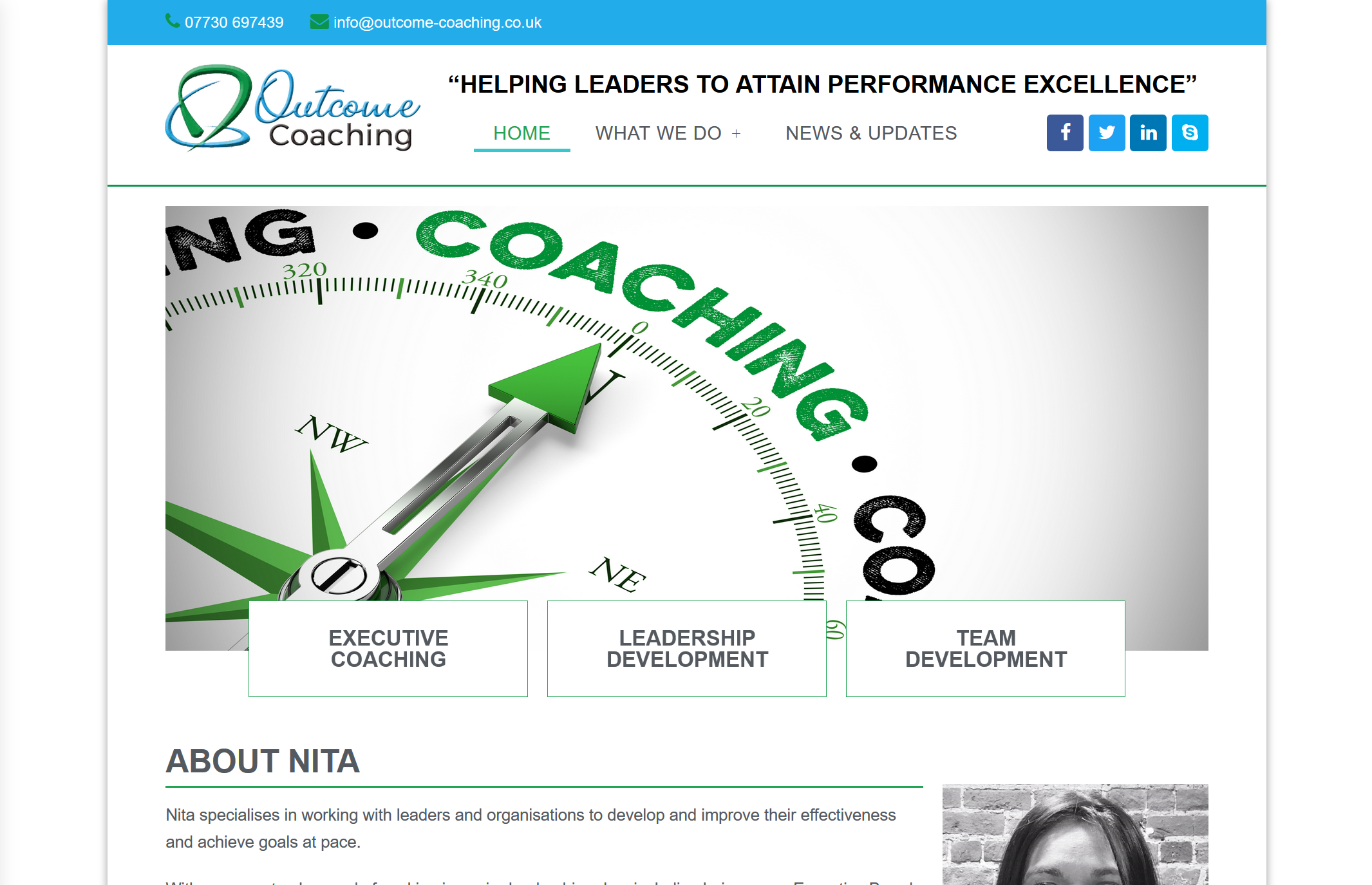 Read more about the article Website Refresh for Outcome Coaching